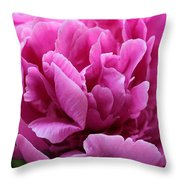 Pink Peony Watercolor Throw Pillow