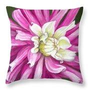 Pink Petal Blast Throw Pillow