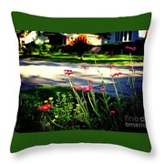 Pink Petals In The Sunlight Throw Pillow