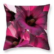 Pink Petunia Throw Pillow