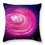Pink Planet With Diffusing Atmosphere Throw Pillow