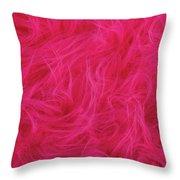 Pink Plush Fabric Throw Pillow