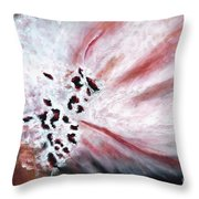 Pink Pollinator Throw Pillow