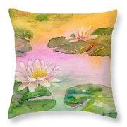 Pink Pond Throw Pillow