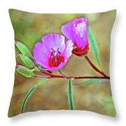 Pink Poppies In Rancho Santa Ana Botanic Garden In Claremont-california Throw Pillow