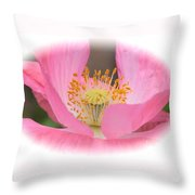Pink Poppy Serenity Throw Pillow