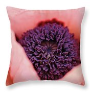 Pink Poppy Soul Throw Pillow