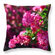 Pink Profusion 1 Throw Pillow