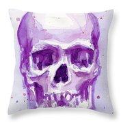 Pink Purple Skull Throw Pillow