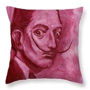 Pink Rhinoceros  Throw Pillow