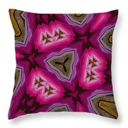 Pink And Gold Eruption Throw Pillow