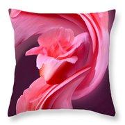Pink Roas In A Swirl Throw Pillow