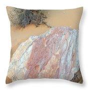 Pink Rock Throw Pillow