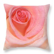 Pink Romance Throw Pillow