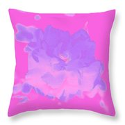 Pink Rose Abstract Throw Pillow