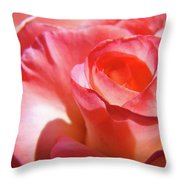 Pink Rose Art Prints Floral Summer Rose Flower Baslee Troutman Throw Pillow
