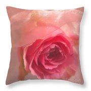 Pink Rose Fantasy 3 Throw Pillow