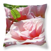 Pink Rose Flower Garden Art Prints Pastel Pink Roses Baslee Troutman Throw Pillow