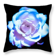 Pink Rose Has The Blues Throw Pillow