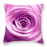 Pink Rose Macro Hdr Throw Pillow