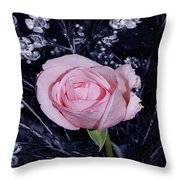 Pink Rose Of Imperfection Throw Pillow