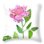 Pink Rose, Painting Throw Pillow
