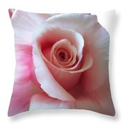 Pink Rose Painting Throw Pillow