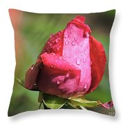 Pink Rosebud Throw Pillow