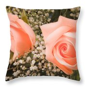 Pink Roses Fine Art Photography Print Throw Pillow