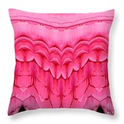 Pink Roses Polar Coordinates Effect 1 Throw Pillow