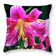 Pink Rules - Paint Throw Pillow