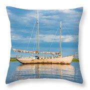 Pink Sailboat 3 Throw Pillow