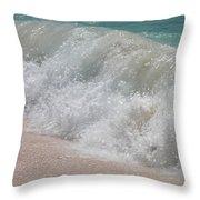 Pink Sand Beaches Throw Pillow