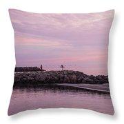 Pink Skies At Dawn Throw Pillow