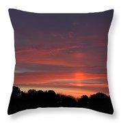 Pink Sky At Sunrise Throw Pillow
