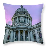 Pink Sky On The Square Throw Pillow