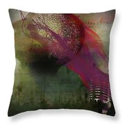 Pink Song Throw Pillow by Richard Ricci