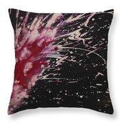 Pink Spark Throw Pillow