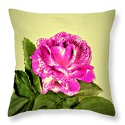 Pink Speckled Rose 1 Throw Pillow