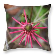 Pink Spikes Throw Pillow