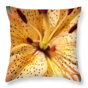 Pink Spotted Lilly Throw Pillow