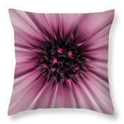 Pink Sun. Throw Pillow