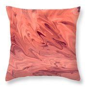 Pink Surge Throw Pillow