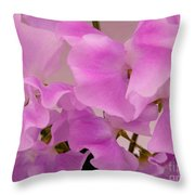 Pink Sweetpeas Throw Pillow