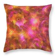 Pink Swirl Waves Throw Pillow