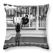 Pink Temptations - Bw Throw Pillow