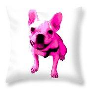 Pink Terrier Throw Pillow