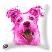 Pink Terrier Mix 2989 - Wb Throw Pillow