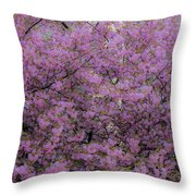 Pink Tree Throw Pillow