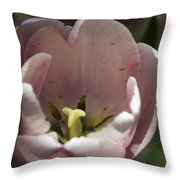 Pink Tulip Center Squared Throw Pillow